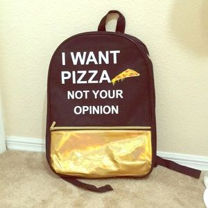 Other - Pizza Backpack Mini NWT